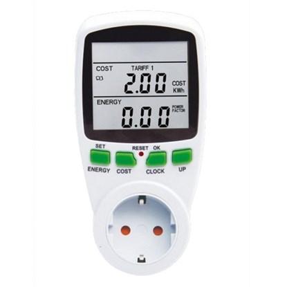 Immagine di Techly IPW-ADP-ENM2 - Rilevatore di Consumi e Costi Energetici (Schuko)